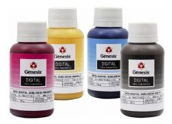 KIT 4 TINTAS SUBLIMÁTICAS PARA EPSON  100ML GÊNESIS
